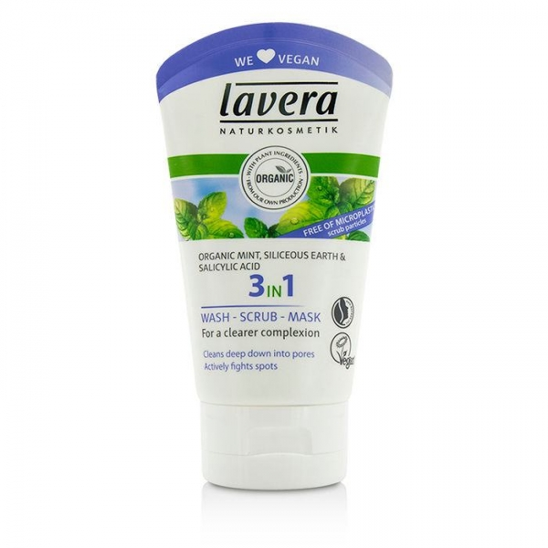 Lavera 3 in 1 Organic Face Wash, Scrub and Mask - 125ml