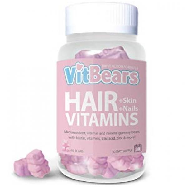 VitBears Hair, Skin & Nails - 60 Pack
