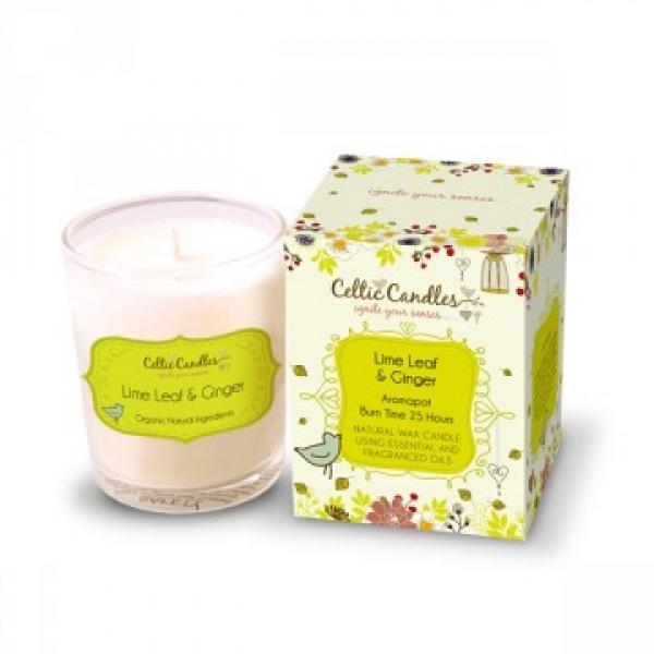 Celtic candles Lime Leaf and Ginger