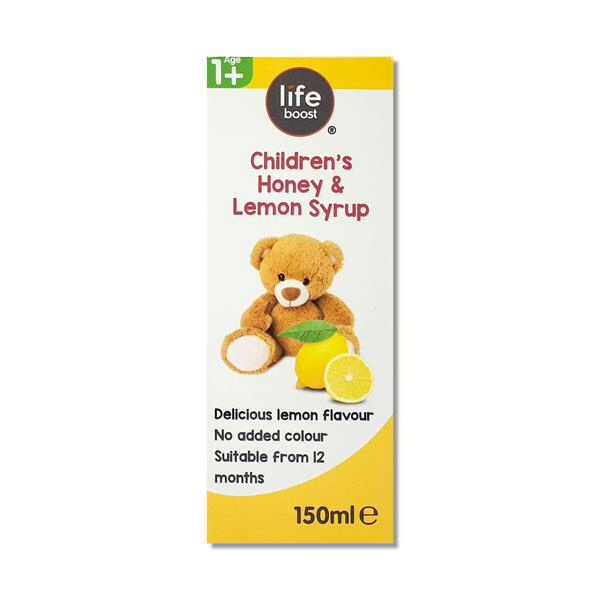 Life Boost Childrens Honey Lemon Syrup exp Aug 21