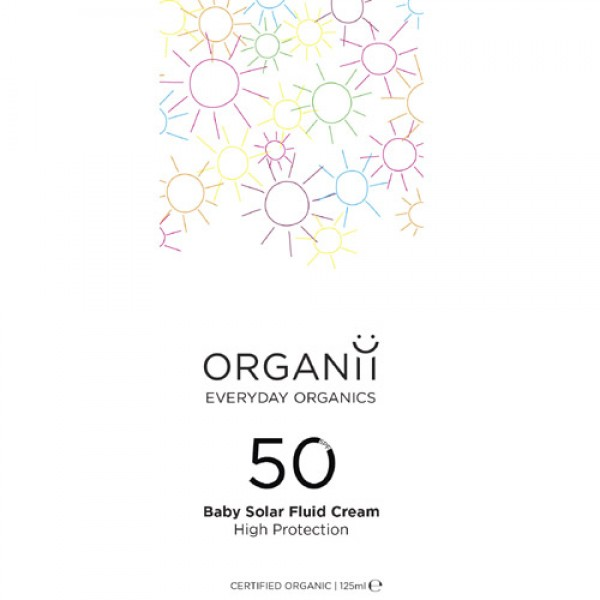 Organii SPF 50 High protection Sun milk Suitable  or babies 125ml