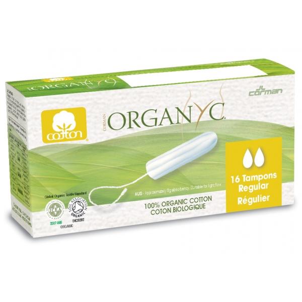 Organyc Tampons Regular 100% Organic Cotton