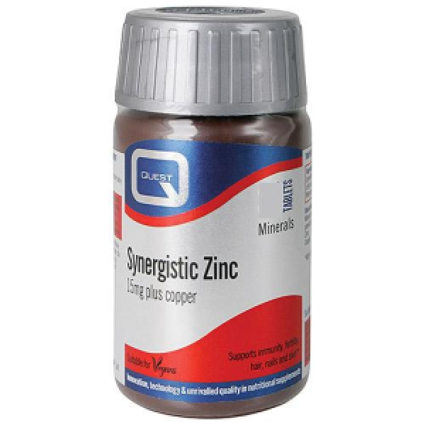 Quest Syneristic Zinc 15mg  with Copper - 30 Tablets