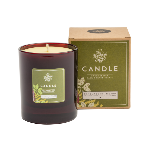The Handmade Soap Company Sweet Basil and Orange Candle